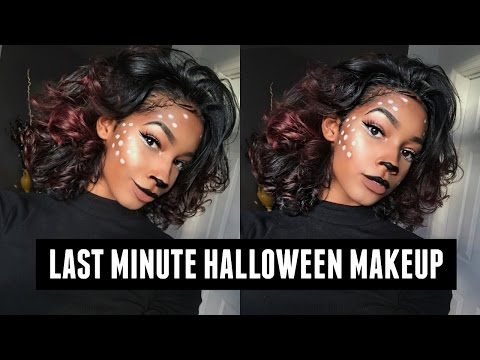 EASY Last Minute DEER MAKEUP for Halloween | 2016
