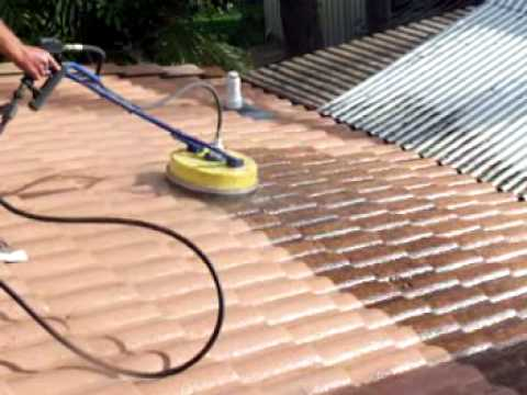 Roof Cleaning - Cement Tile Rotory Wash - Brisbane Australia