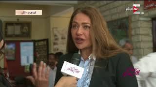 """ست الحسن - الفنانة """"ليلى علوي"""" تدلي بصوتها في الانتخابات الرئاسية"""