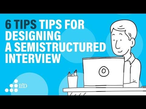 6 Tips for designing a semi-structured interview guide