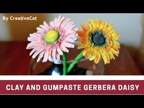 Clay and Gumpaste/Sugarpaste Gerbera Daisy