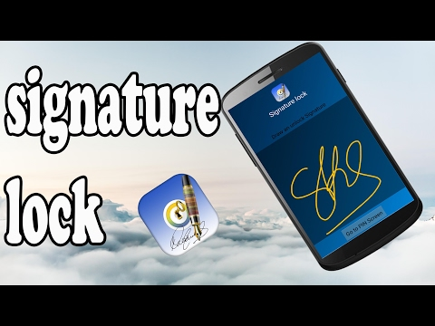 How To Set Signature Screen lock For Android Devices Updated !