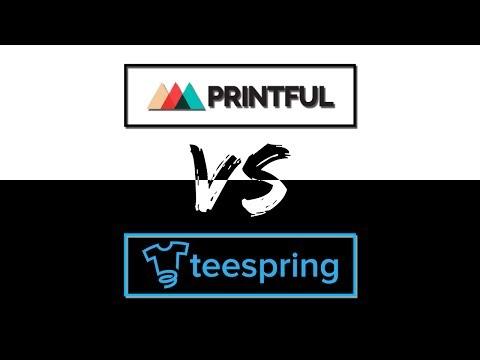 PRINTFUL vs TEESPRING (Comparison of Samples + Pros & Cons)