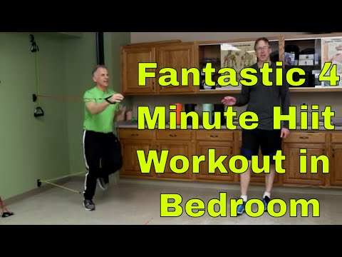 Fantastic 4 Minute Hiit Workout In Bedroom- Will Rock Your Day. Beginner to Advanced.