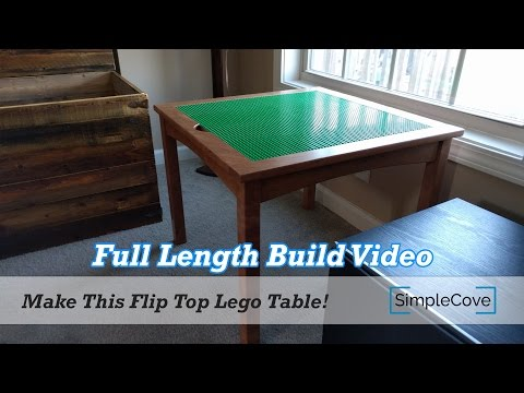 Full Length Build Video - How To Make A Flip Top Lego Table