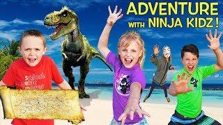 Escape the Sneaky Spy with Ninja Kidz TV! Mysterious Treasure Map Storytelling Adventure!