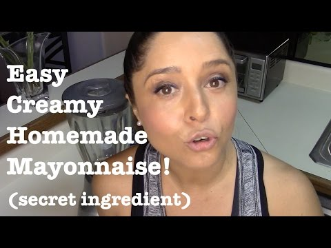 Easy Creamy Homemade Mayonnaise - Aioli recipe. Secret ingredient / twist.