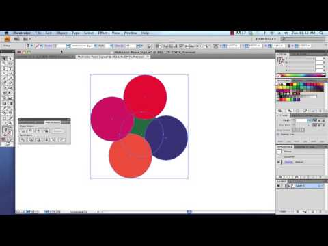 Creating a Basic Clipping Mask with Illustrator CS4