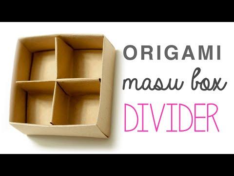 Origami Masu Box Divider Tutorial | Paolo Bascetta ♥︎ DIY ♥︎