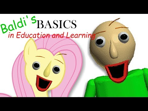 Fluttershy plays Baldi's Basics in Education and Learning 🍉 | ONE OF US..