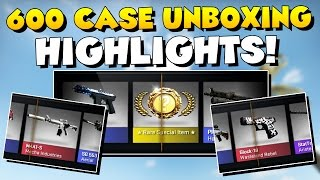 cs go 700 cases unboxing highlights 700k subscriber milestone