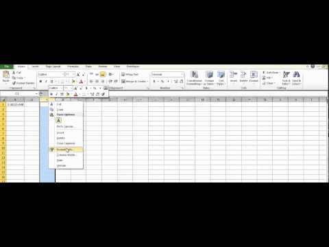 Microsoft Excel -  How to convert time to seconds