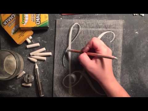 SheShe Design Chalk Script Lettering UPPERCASE K