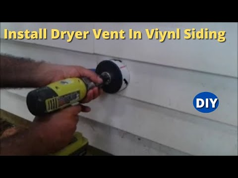 How to Install  Dryer Vent  and Make a Hole on Vinyl Siding Step by Step