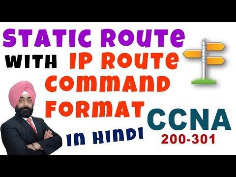 Cisco CCNA Static Routing - IP Route Command - Routing Part 11