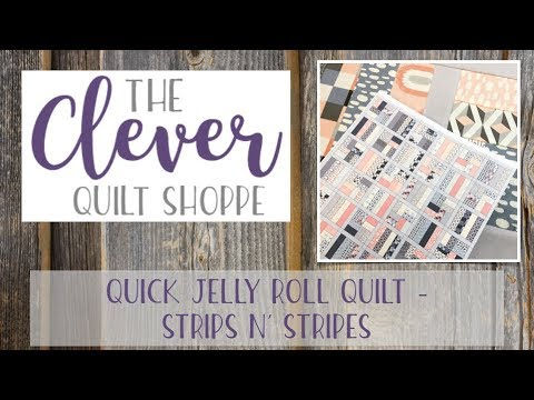 Quick Jelly Roll Quilt - Strips n' Stripes