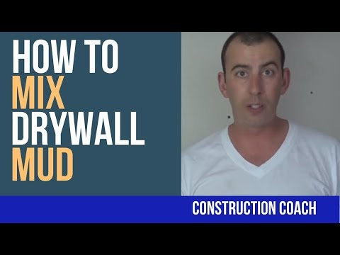 How to Mix Drywall Mud