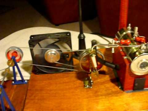 Steam powered TinkerToy Windmill & Generator