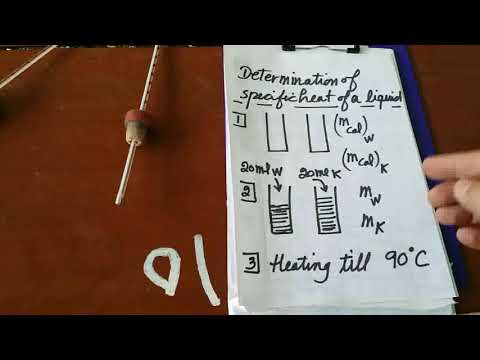 Determination of the Specific Heat of a Liquid (part 1)