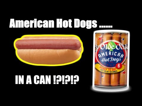 American Hot Dogs IN A CAN!?!? - WHAT ARE WE EATING?? - The Wolfe Pit