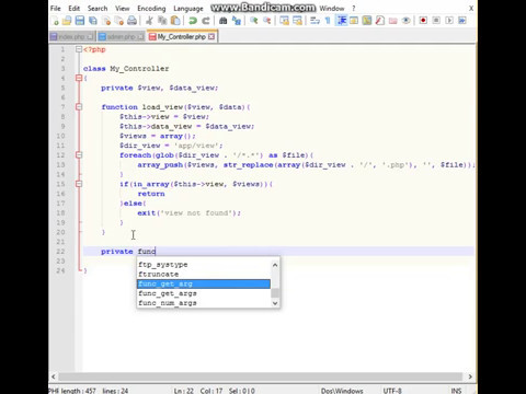 Create OOP PHP Framework MVC for 80 minutes Part 4
