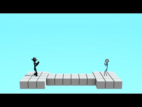 3D vs 2D Stickman Fight - Stickman Animation