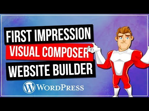 VISUAL COMPOSER: Website Builder - First Impressions & Demo