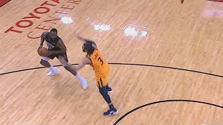 James Harden Gets Away With The Worst Travel In the NBA Using His Step Back! Rockets vs Jazz