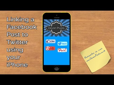 Linking a Facebook Post to Twitter using your iPhone