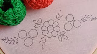 Hand Embroidery Flower Pattern of Latest Borderline-95,Embroidery for Beginners