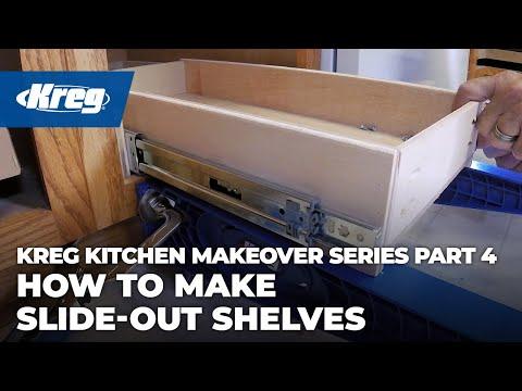 Kreg Kitchen Makeover Series Part 4: How To Make Slide-Out Shelves