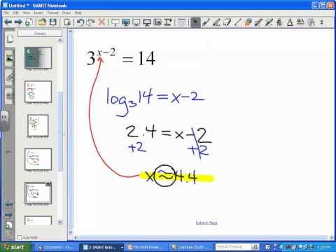 Solving Exponential Equations (Part 2) - LT11
