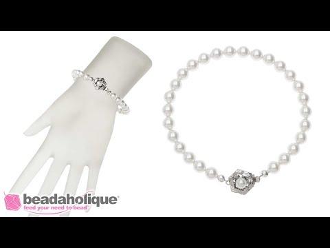 How to Make a Swarovski Pearl Bracelet Featuring Elegant Elements Clasps