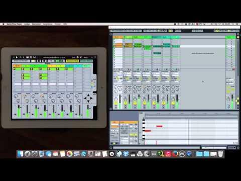 Ableton Live iPad Editor /Midi Controller