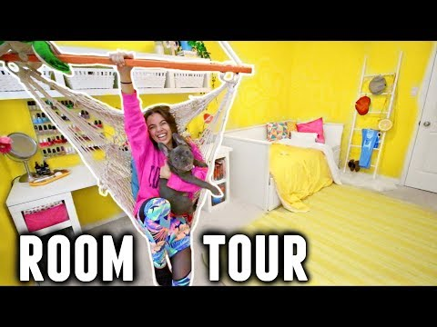 ROOM TOUR 2018! (Happy Bright Yellow/Boho Aesthetic Room Makeover) ✨💛🌼
