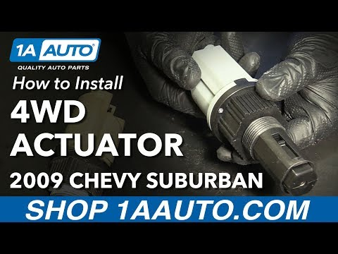 How to Install Replace Front Four Wheel Drive Actuator 2000-14 Chevy Suburban 1500