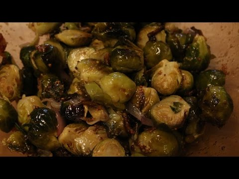Oven Roasted Brussel Sprouts With Bacon