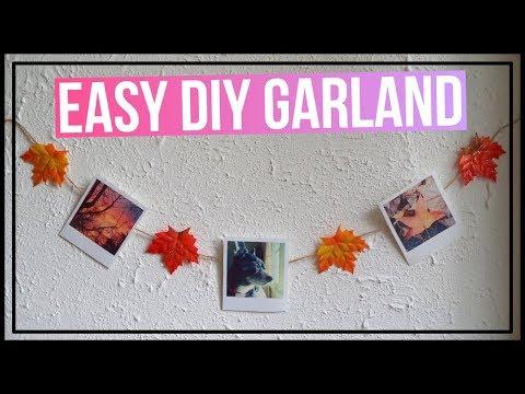 DIY Leaf Garland / DIY Polaroid Garland🍂 DIY Garland for Fall 🍂 How to Make a Polaroid Garland