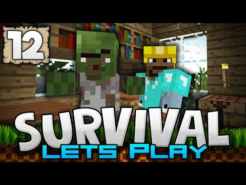 I FOUND AN ABANDONED VILLAGE!!! - Survival Let's Play Ep. 12 - Minecraft 1.2 (PE W10 XB1)