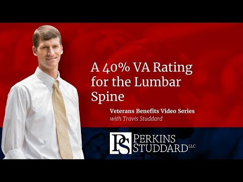 A 40% VA Rating for the Lumbar Spine