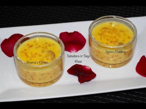 Sabudana Sago Kheer Vrat Upvas | Tapioca Pudding Video Recipe | Bhavna's Kitchen