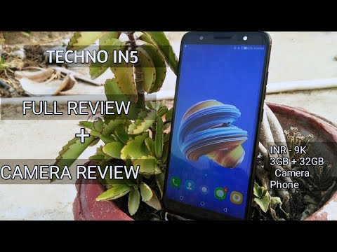 Techno Camon IN5 Full Review, With Full Camera Review,Budget Phone Under 9K..😄😃