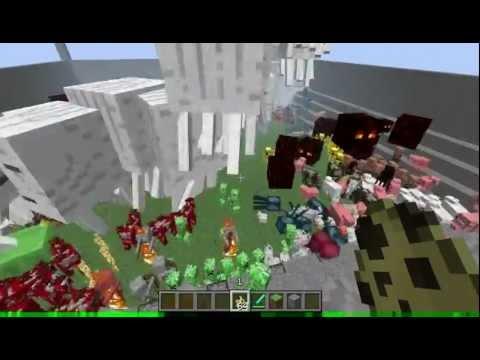 Minecraft, Redstone monster spawning dispensers (spawn eggs)