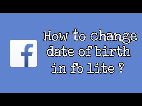 How to change date of birth in fb lite.