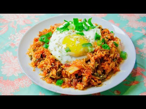 Kimchi Fried Rice - Easy Kimchi Fried Rice - One Pot Meal Recipe