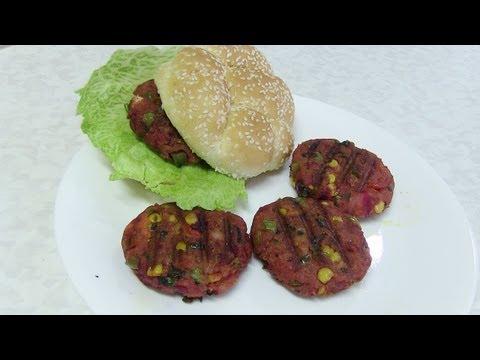 Homemade Vegetable Masala Burger -  Video Recipe by Bhavna