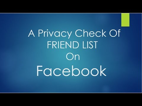 Take a privacy check. How to check friend list privacy setting on facebook.