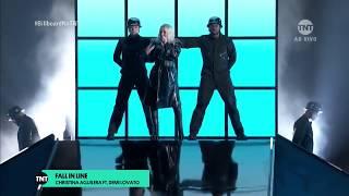 Christina Aguilera e Demi Lovato - Fall in Line (BillBoard Music Awards 2018) 20-05-2018 [CABR]
