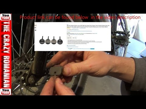 How to replace and ADJUST Ancheer Disk Brake Pads - Bicycle E-bike