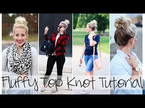 Fluffy Top Knot Tutorial | How to get a big bun without having a ton of hair